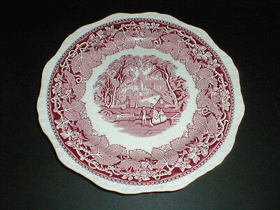 "Masons England PINK VISTA 10-5/8"" Large Dinner Plate (loc-77F)"