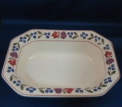 "Wm Adams England Micratex OLD COLONIAL 10"" Oval Vegetable Bowl - Old Mark"