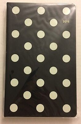 "KATE SPADE Pencil It In 12 Month Deco Dot Agenda Planner Calendar 5""X8"" New"