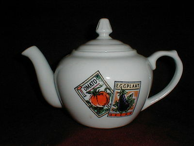 BIA Cordon Bleu Vegetable Seed Packet 5 Cup Porcelain Teapot - Made in Brazil