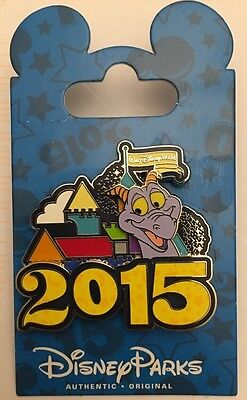 WALT DISNEY WORLD 2015 Authentic Park Original Figment Pin NEW