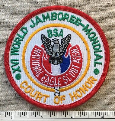 XVI WORLD JAMBOREE Boy Scouts EAGLE SCOUT ASSOCIATION Court of Honor PATCH 16th