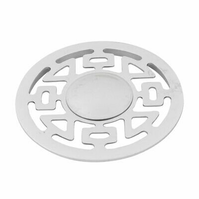 Stainless Steel Round Floor Drain Cover Lid Strainer Hair Stopper Silver Tone