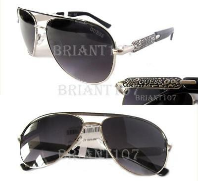 tiny defect New GUESS GF0338 Silver//Pink mirrored Womens Sunglasses $80