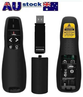 2.4G Wireless PPT Pointer PowerPoint Clicker Presenter Remote Black For R400 DID
