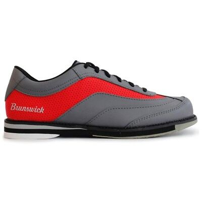 Brunswick Rampage GREY/RED Mens Right Handed Interchangeable Bowling Shoes