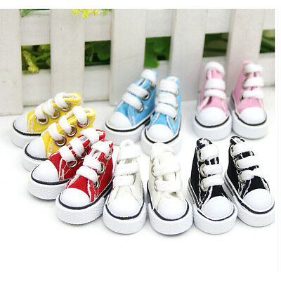 5cm Doll Shoes Denim Toy Shoes1/6  For Russian Tilda Doll Sneakers
