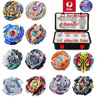 X-MAS 12X SET Beyblade Burst Evolution Arena Launcher Battle Stadium Toy + Box