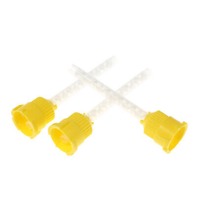 50 Pcs/Pack Yellow Dental 4.2 mm Impression Mixing Tips Silicon Rubber V0S9