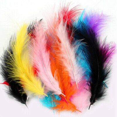 Beautiful 50pcs Rooster Tail Little Feathers 2-4 inches / 4-10cm DIY Decorative