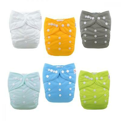 ALVABABY Baby Cloth Diapers One Size Adjustable Washable Reusable for Girls...