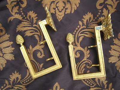 Stunning Pair Antique French Gilded Bronze Tieback Louis Xvi  Style Numbered