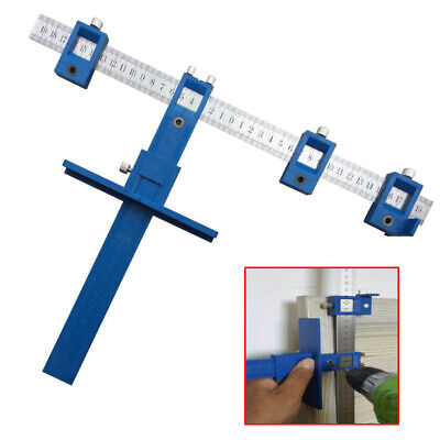 Drill Guide Tool Drilling Locator Ruler Woodwork Punch Locator Hole Tool Set New