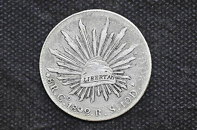 Mexico - Republic 1892 Go RS 8 Reales Silver Coin ( Weight : 26.95 g ) C27