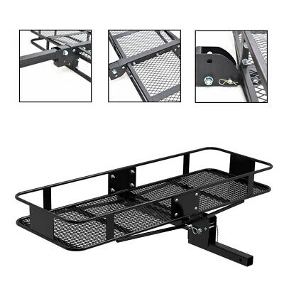 Hitch Mounted Folding Cargo Carrier Car SUV Truck Basket Luggage Durable 500lbs