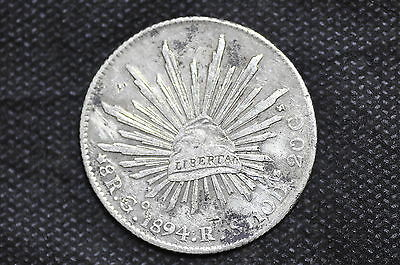Mexico - Republic 1894 Go RS 8 Reales Silver Coin ( Weight : 26.94 g ) C89