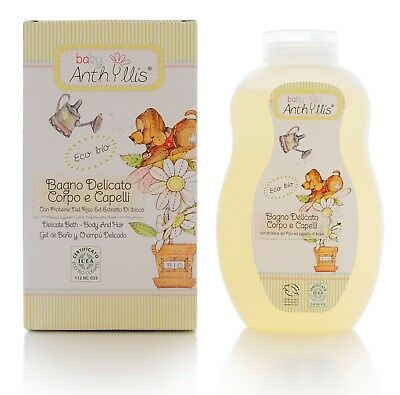 Anthyllis Baby Organic 2 in 1 Body & Shampoo Delicate Certified Vegan 400ml