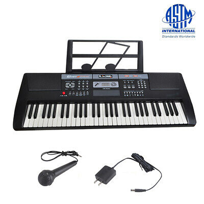Upgrade 61 Key Music Electronic Keyboard Electric Digital Piano Organ  Black