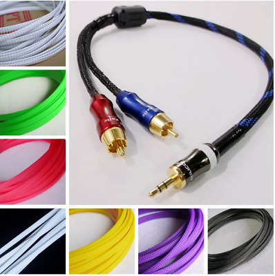 2MM-16MM TIGHT Braided PET Expandable Sleeving Cable Wire Sheath Single Color