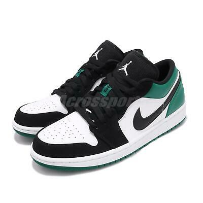Nike Air Jordan 1 Low I AJ1 Mystic Green White Black Men Shoe Sneaker 553558-113