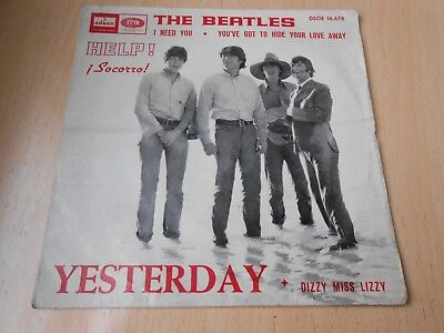 The Beatles, Ep, Yesterday + 3, Spanish Edit.1965
