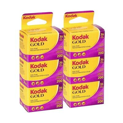 6x Kodak Gold 200ASA 35mm Colour Print Film Colour Negative Film 135-36 Exposure