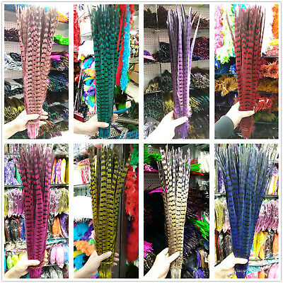 Wholesale 10/50/100pcs Natural Pheasant Feathers 25-60 cm/10-24 inch Decoration