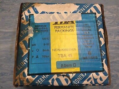TBA Permanite Packing 8mm Non- Asbestos 8 Metres Absolute Bargain
