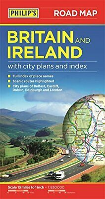 Philip's Britain and Ireland Road Map by