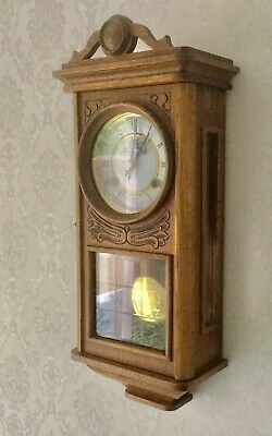 Lovely P.watts & Son , Oak Striking Wall Clock - Working With Key Vgc