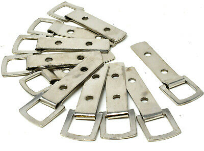 10 x NICKEL HEAVY DUTY 2 HOLE PICTURE FRAME STRAP HANGER HANGING HOOK 61mm