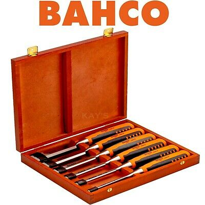 Bahco 6 Piece Honed Hardened Splitproof Chisel Set In Presentation Box, 424P-S6