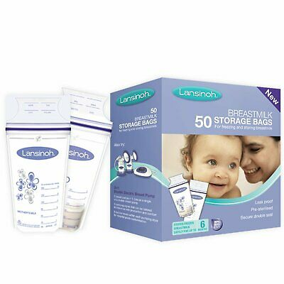 Lansinoh 40055 Storage Bags for Freezing and Storing Breastmilk, 50 Pieces