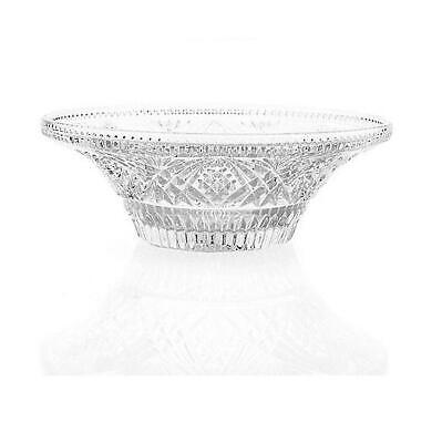Marquis by Waterford Heritage Cut Crystal Low Centerpiece Bowl (Brown Box)