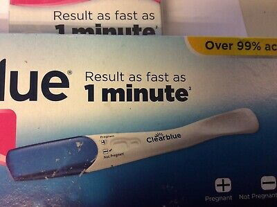 CLEARBLUE Pregnancy test.STICK - 1 Test. No box tester only