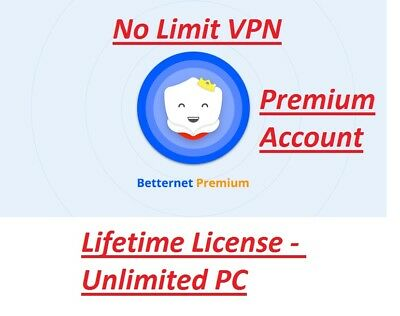 BETTERNET VPN V 5 0 5 ✔Unlimited Lifetime VPN License ✔No  Subscription✔Download