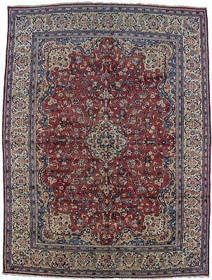 Hand-Knotted Semi Antique 10X13 Geometric Persian Rug Oriental Home Décor Carpet