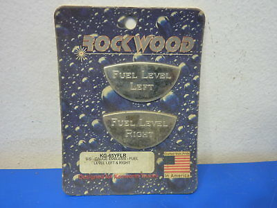 Rockwood KG-65YFLR,Stainless Steel Gauge Emblem Fuel Level Right and Left