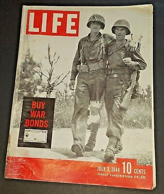 July 3, 1944 LIFE Magazine WWII Old ads Ad, 40s advertising FREE SHIPPING 7 4 5