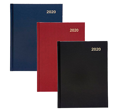 2019, 2020 A4/A5/Slim Day per page, Week To View Hardback Office Desk Diary