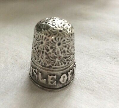 Antique Silver Isle of Man Thimble 1900
