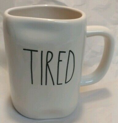 "NEW Rae Dunn by Magenta L/L ""TIRED"" Coffee Mug Rare HTF"