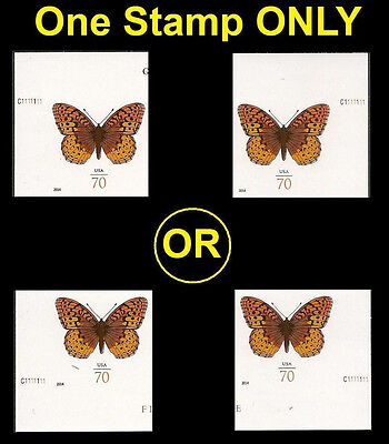 US 4859a Great Spangled Fritillary 70c imperf NDC plate single MNH 2014