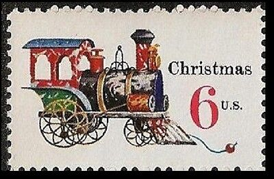 US 1415 Holiday Antique Toys Tin and Cast-iron Locomotive 6c single MNH 1970
