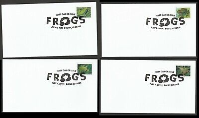 US 5395-5398 Frogs (set of 4) BWP FDC 2019