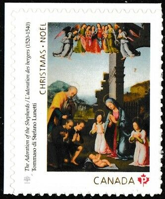 Canada 3046 Christmas Adoration of Shepherds 'P' single (booklet of 12) MNH 2017