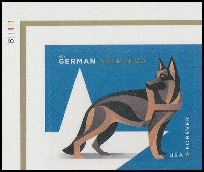 US 5405 Military Working Dogs German Shepherd forever plate single UL MNH 2019