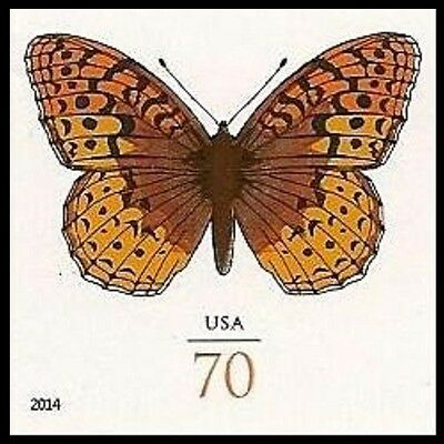 US 4859a Great Spangled Fritillary 70c imperf NDC single MNH 2014
