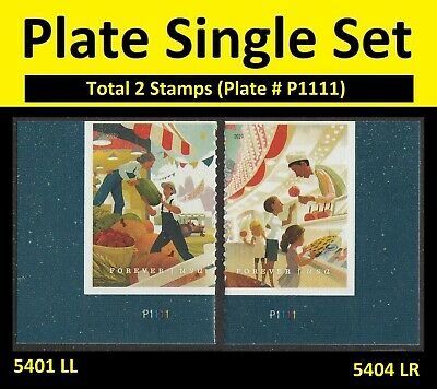 US 5401 5404 State and County Fairs forever plate single set (2 stamps) MNH 2019