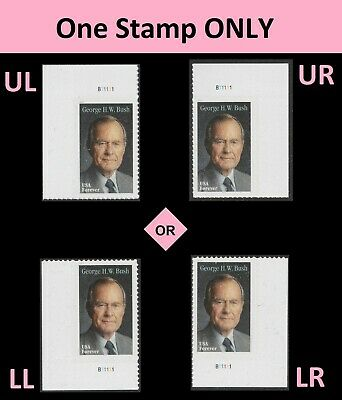 US 5393 George H W Bush forever plate single MNH 2019